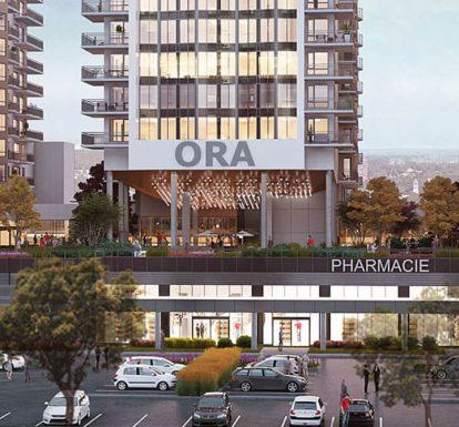 Maquette du complexe résidentiel pour retraité Ora du Groupe Maurice
